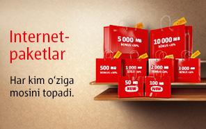 UMS Internet paketlar / Интернет-пакеты